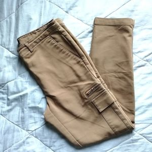 3/$25✨DYNAMITE cotton caramel cargo high rise work